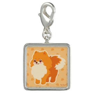 Kawaii Pomeranian Cartoon Dog Photo Charm