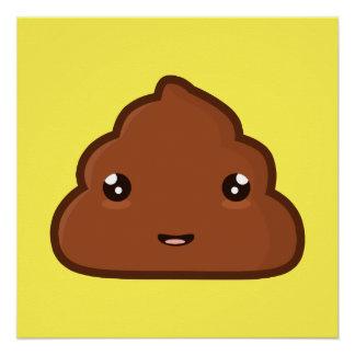 Kawaii Poo Perfect Poster