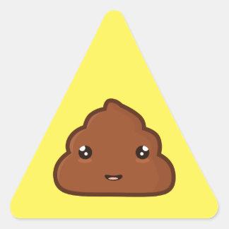 Kawaii Poo Triangle Sticker