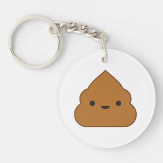 Kawaii Poop Acrylic Keychain