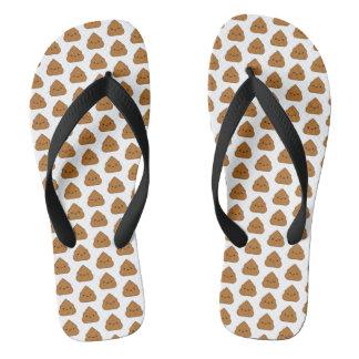 Kawaii Poop Pattern Flip Flops