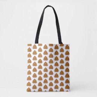 Kawaii Poop Pattern Tote Bag