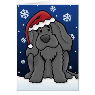Kawaii Portuguese Water Dog Christmas Card