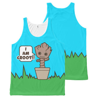 Kawaii Potted Groot All-Over-Print Tank Top