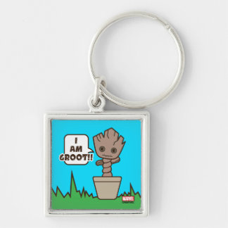 Kawaii Potted Groot Keychain