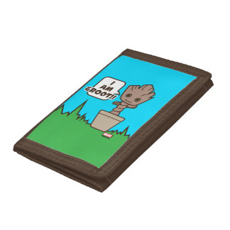 Kawaii Potted Groot Trifold Wallet
