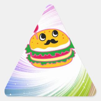 kawaii psychedelic hamburger triangle sticker