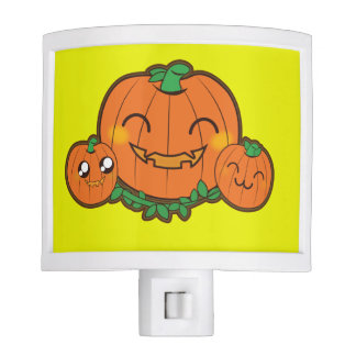 Kawaii pumpkin night light