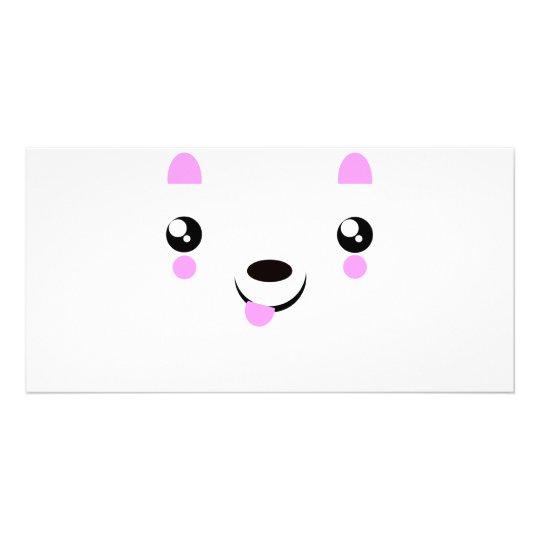 Kawaii Puppy cute kawaii t-shirts Photo Card Template