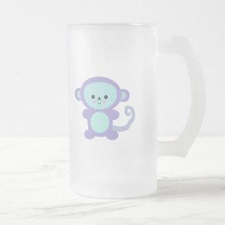kawaii purple monkey coffee mugs