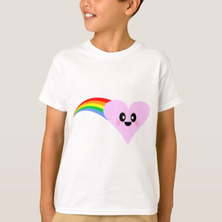 KAWAII RAINBOW HEART VALENTINE'S DAY CUTE ADORABLE T-Shirt