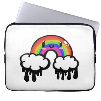 Kawaii rainbow laptop computer sleeve