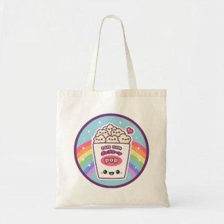 Kawaii Rainbow Popcorn Tote Bag