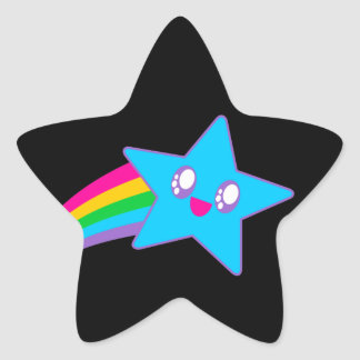 Kawaii Rave Neon Star Rainbow Star Sticker