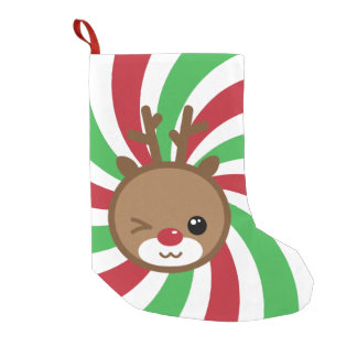 Kawaii Reindeer Christmas Stocking