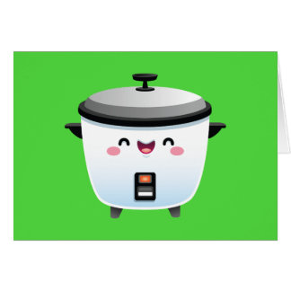 Kawaii Rice Cooker Card
