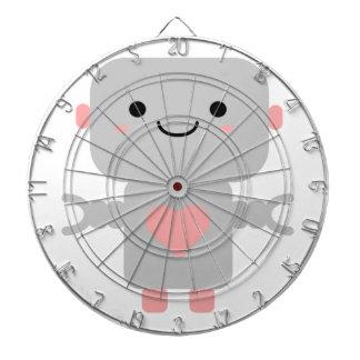 Kawaii Robot Cartoon Dartboard