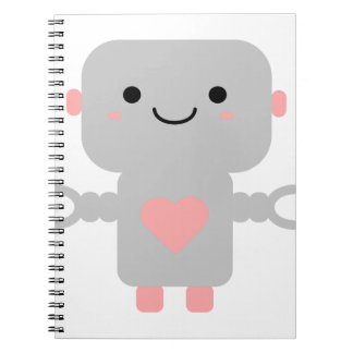 Kawaii Robot Cartoon Notebooks