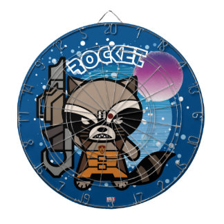 Kawaii Rocket Raccoon In Space Dartboard