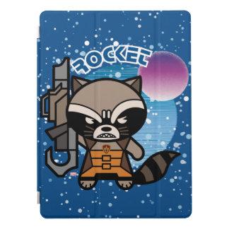 Kawaii Rocket Raccoon In Space iPad Pro Cover