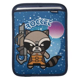 Kawaii Rocket Raccoon In Space iPad Sleeve
