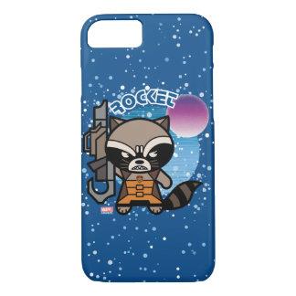 Kawaii Rocket Raccoon In Space iPhone 8/7 Case