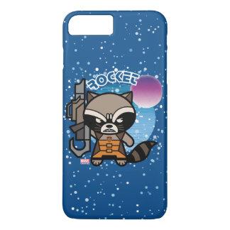 Kawaii Rocket Raccoon In Space iPhone 8 Plus/7 Plus Case