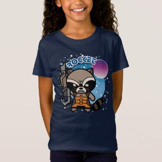 Kawaii Rocket Raccoon In Space T-Shirt