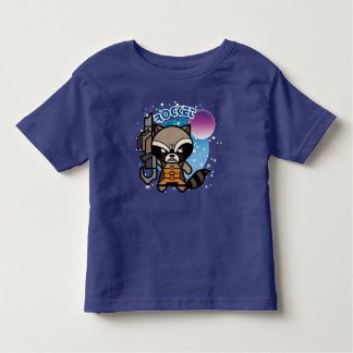 Kawaii Rocket Raccoon In Space Toddler T-shirt