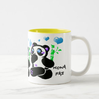 kawaii running panda mug