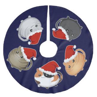 Kawaii Santa cats Brushed Polyester Tree Skirt
