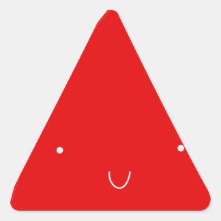 Kawaii Santa Hat Triangle Sticker