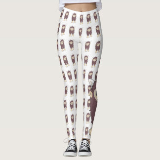 Kawaii Sasquatch (aka Bigfoot) Leggings