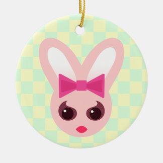 Kawaii Sassy Bunny Rabbit Girl Ornament