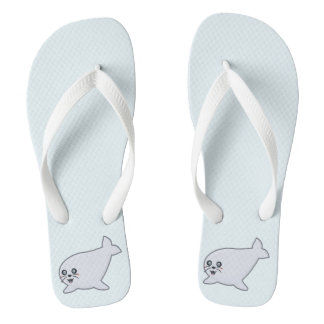 Kawaii Seal Flip Flops