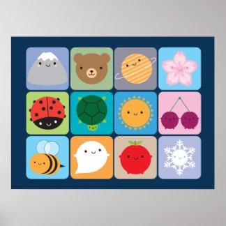 Kawaii Seasons Poster