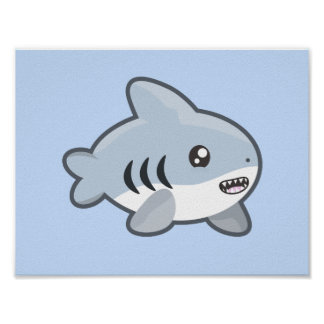 Kawaii Shark Poster