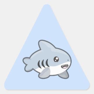 Kawaii Shark Triangle Sticker