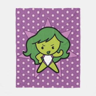 Kawaii She-Hulk Flex Fleece Blanket