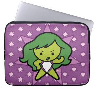 Kawaii She-Hulk Flex Laptop Sleeve