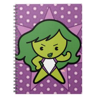 Kawaii She-Hulk Flex Notebook