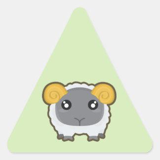 Kawaii sheep triangle sticker
