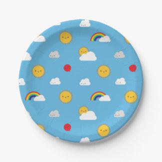 Kawaii Skies Paper Plate