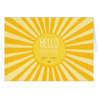 KAWAII SKY bright bold yellow smiling sun sunshine Card