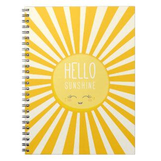 KAWAII SKY bright bold yellow smiling sun sunshine Notebook