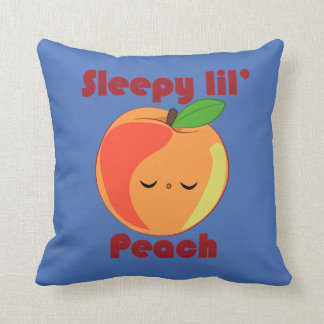 Kawaii Sleepy Lil' Peach pillow