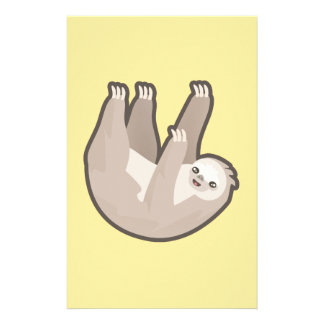 Kawaii Sloth Stationery Design