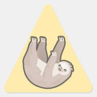 Kawaii Sloth Triangle Sticker