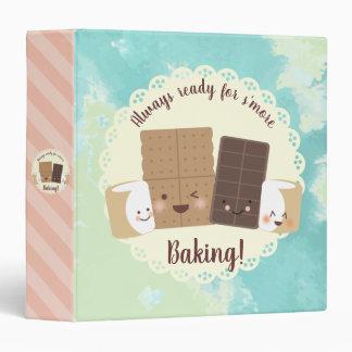 kawaii smores marshmallows cookbook recipe binder