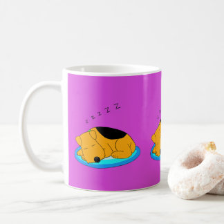 Kawaii Snoring Airedale Terrier Dog Mug